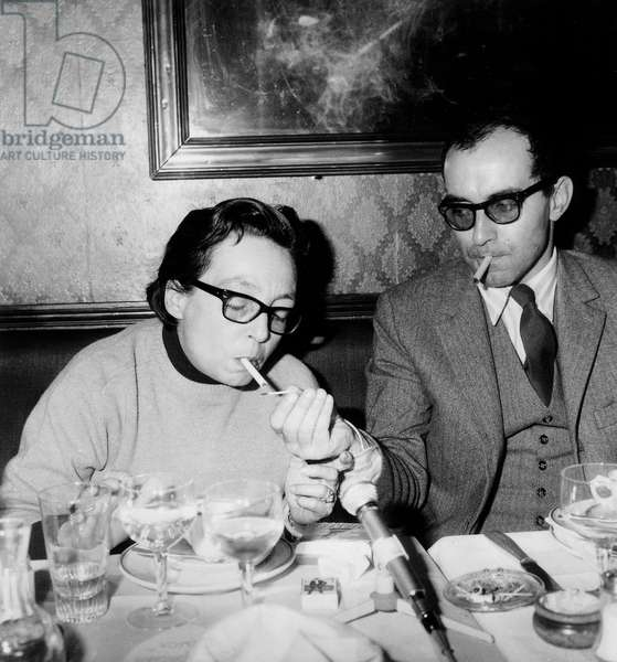 French Writer Marguerite Duras Member of Jury and Film Director Jean-Luc Godard Prizewinner For his Film