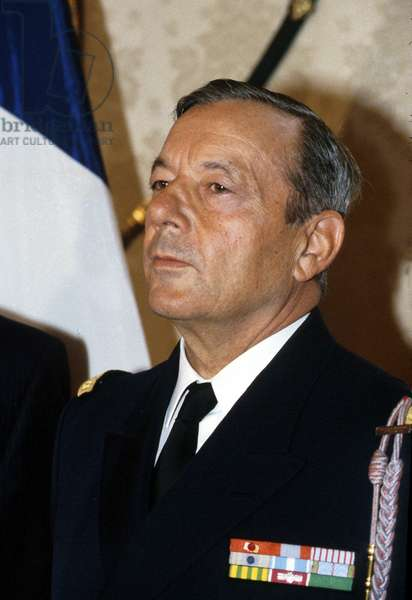 Admiral Pierre Lenhardt French Minister of Interior in Vichy and Later Government Official in Algeria, France, here in 1988 (photo)