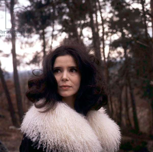 Marie Jose Nat sur Set de Film Safari Diamants De Micheldrach en 1966 (photo)