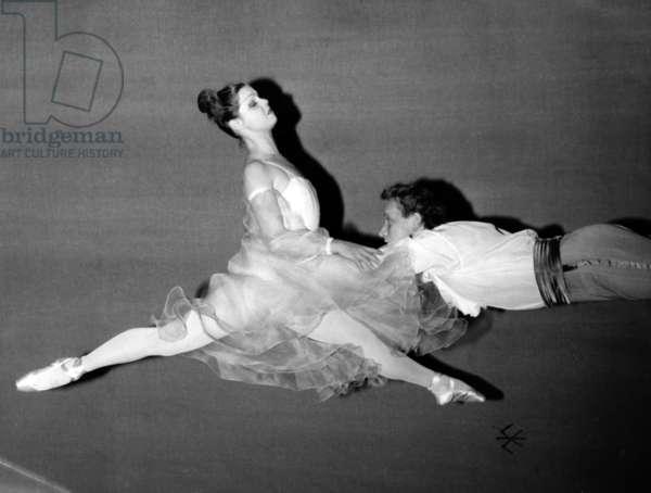 Alla Hadrilenko And Killiavine Dance Symphony. Repetition On The Scene Du Theatre Des Champs Elysees November 30, 1964. (b/w photo)