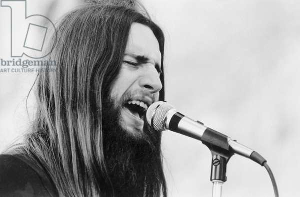 Singer of Magma Band Claus Basquiz on Stage June 28, 1972  (b/w photo)