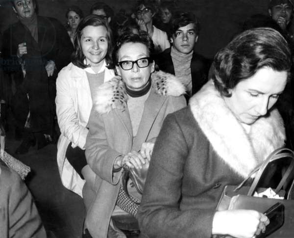 French Writer Marguerite Duras on March 14, 1969 (b/w photo)