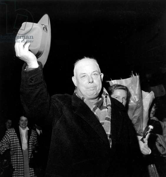 Jean Renoir (1894-1979) French Director on October 28, 1953 (b/w photo)