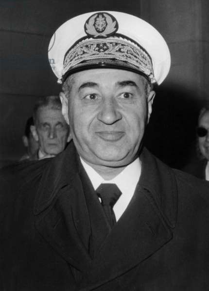 The Judge Galleret at The Law Courts in Paris at Challe and Zeller Trial on May , 1961 (Affair of The Military Putsch in Algiers during War in Algeria) (b/w photo)