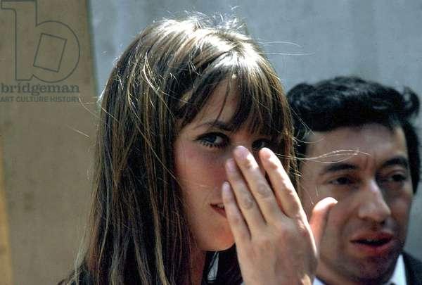 Jane Birkin and Serge Gainsbourg C. 1969 (photo)