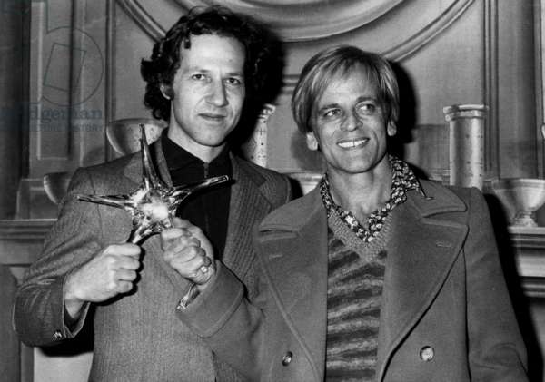 Cx9417 Klaus Kinsky And Werner Herzog At The Presentation Of The Crystal Star Of The Cinema Academy February 8, 1977 (b/w photo)