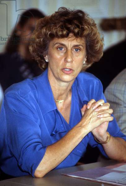 Georgina Dufoix President of Red Cross, July 06, 1989  (photo)