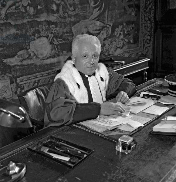 Antonin Besson, the new public prosecutor, Paris, June 22, 1949 (b/w photo)