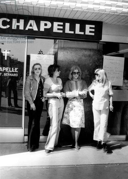 Prostitutes Occupying Chapel in Paris 1975 at The Time of Law About Suppression on Procuring Prostitution (b/w photo)