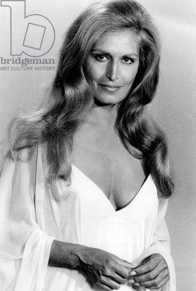 Dalida on May 31, 1977 (b/w photo)
