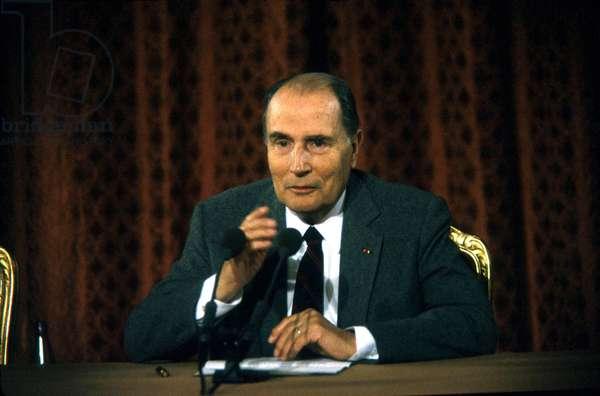 Francois Mitterrand French President of Republic (photo)