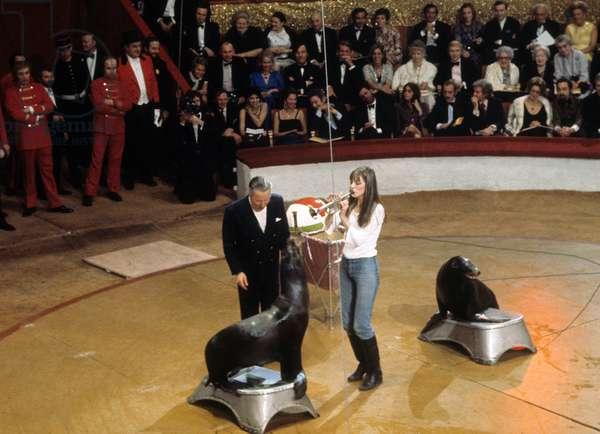 Jane Birkin at Gala of Artists in Paris April 26, 1972 (photo)