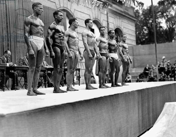 Muscle Contest C. 1937 (b/w photo)