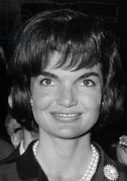 Jacqueline Kennedy Kennedy, Wife of The American President Johnfitzgeraldkennedy (1917-1963) (b/w photo)