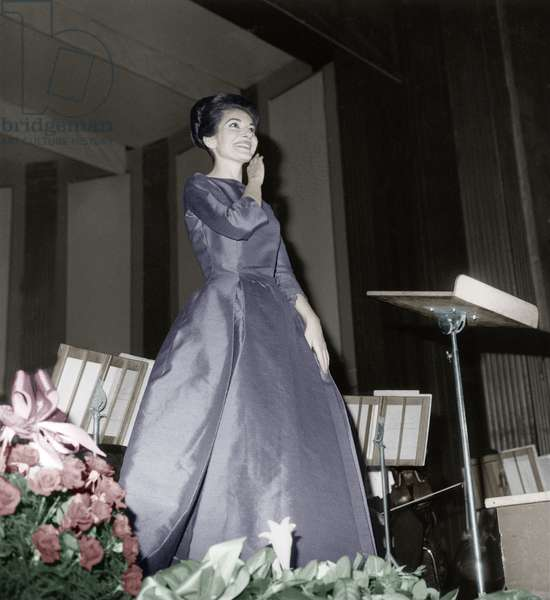 Opera Singer Maria Callas on Stage in Paris in Benefit For The Malt Knights Order June 6, 1963 (photo)