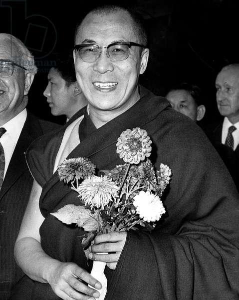The Dalai Lama Visits To The Pestalozzi Children'S Village, Where He Met Buddhist Children at The Tibetan National House October 29, 1973 (b/w photo)