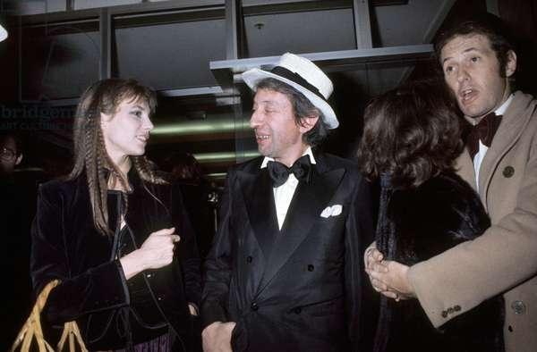 Jane Birkin With Serge Gainsbourg January 3, 1977 Celebrating New Year at Regine'S Paris (photo)