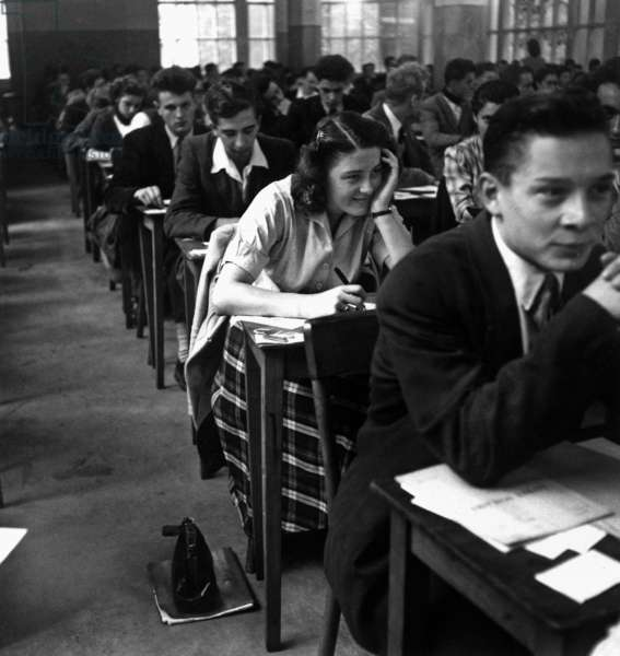 Baccalaureate Examination October 3, 1951 (b/w photo)