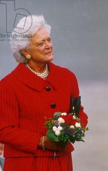 Barbara Bush in Helsinki on September 9, 1990 (photo)