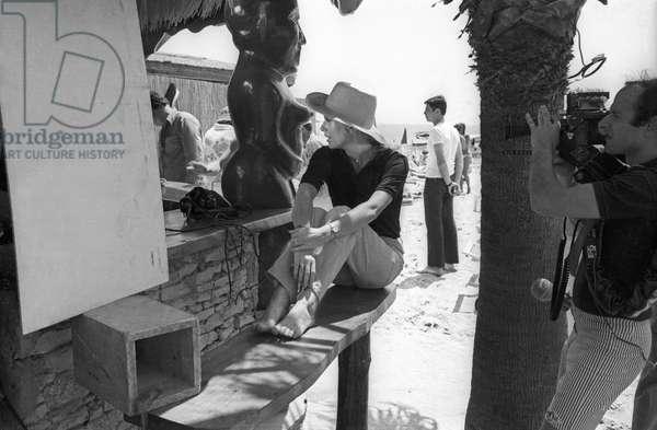 L'actrice française Catherine Deneuve sur le tournage du film d'AlainCavalier «Heartbeat» à Saint Tropez le 21 juin 1968