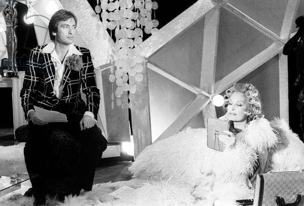 "Dalida With Yves Lecoq during TV Programme ""Numero Un"" April 6, 1979 (b/w photo)"