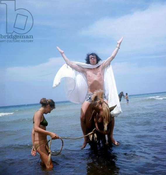Patrick Topaloff in Tunisia June 1974 (photo)
