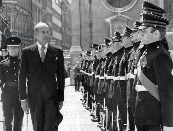 Valery Giscard d'Estaing (b/w photo)