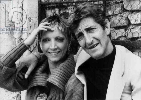 Shooting Of The Movie Nada De Claudechabrol With Mariangela Metalo And Maurice Garrel 1974 (b/w photo)
