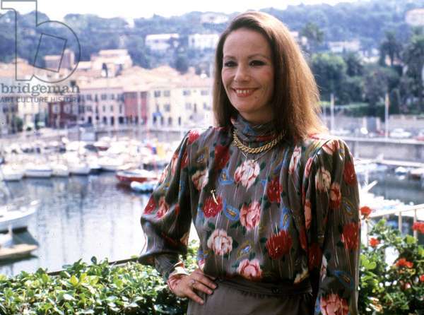 French Actress Claudine Auger in September 1987 on French Riviera (photo)