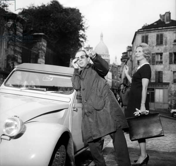Michele Morgan and Director Francois Villiers on Set of Film