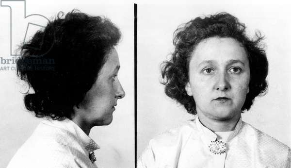 Ethel Rosenberg (1915-1953) American, Communist, Accused of Being A Spy With her Husbandjulius, They Will Be Sentenced To Death in 1953, (b/w photo)