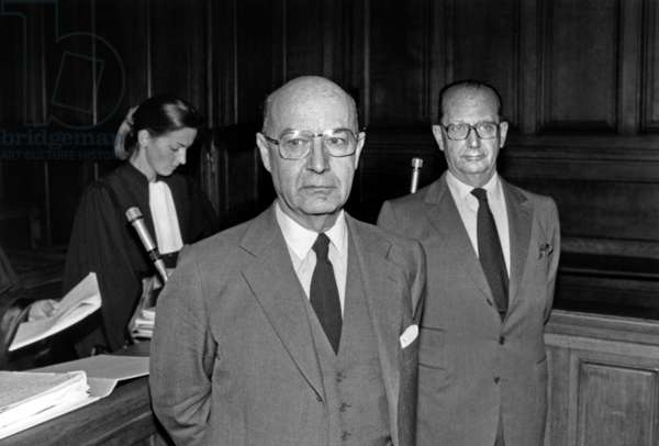 Jacques And Pierre Chaumet During The First Hearing Of Their Trial In The Room Of The 11th Chamber Of The Correctional Court Offers Bankruptcy Scams And Abuse Of Trust On September 30, 1991 (b/w photo)