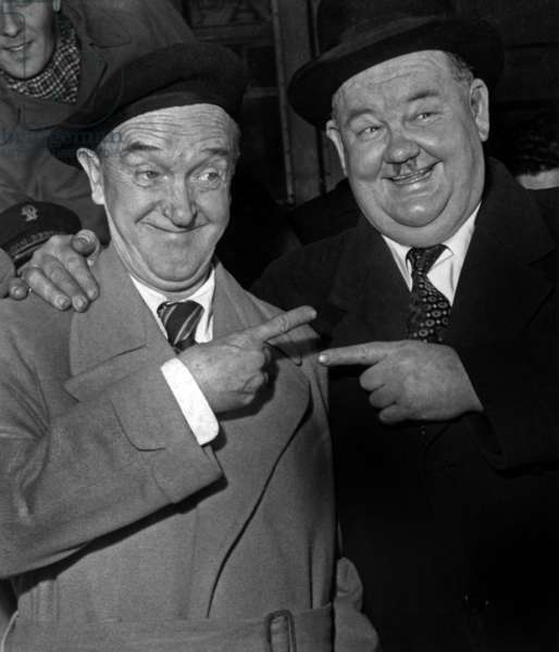 Stan Laurel And Oliver Hardy October 27, 1947 Neg: 4024 (b/w photo)