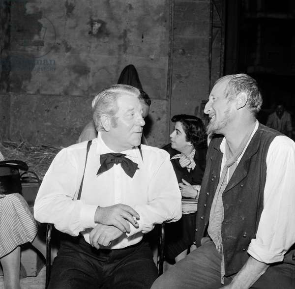 Jean Gabin and Bourvil