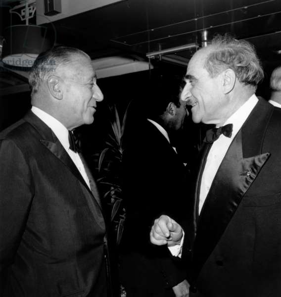 Marcel Bleustein Blanchet, Director of Publicis, With Louis Armand For Opening of Movie Theater