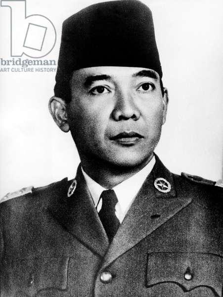Achmed Sukarno (1901-1970), Indonesian President in 1945-1967 (b/w photo)