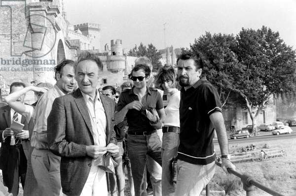 Jean Vilar and Maurice Bejart during Avignon Festival (France) For Performances of Company