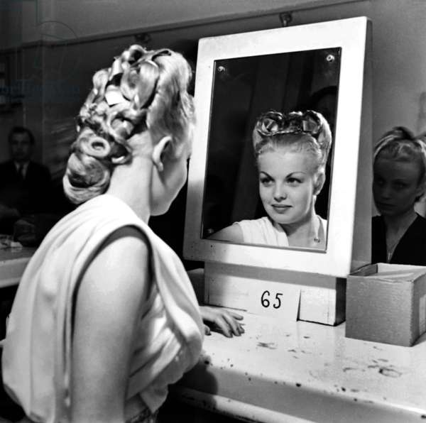 Hairstyle Contest, Paris, March 31, 1946 (b/w photo)