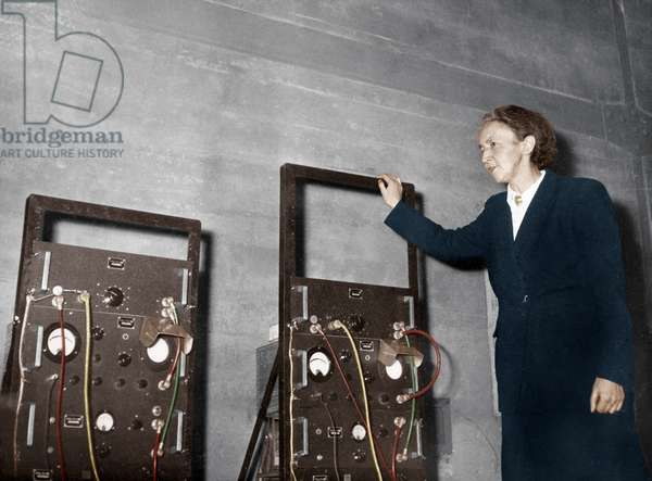 Irene Joliot-Curie in Front of The Atomic Pile Called