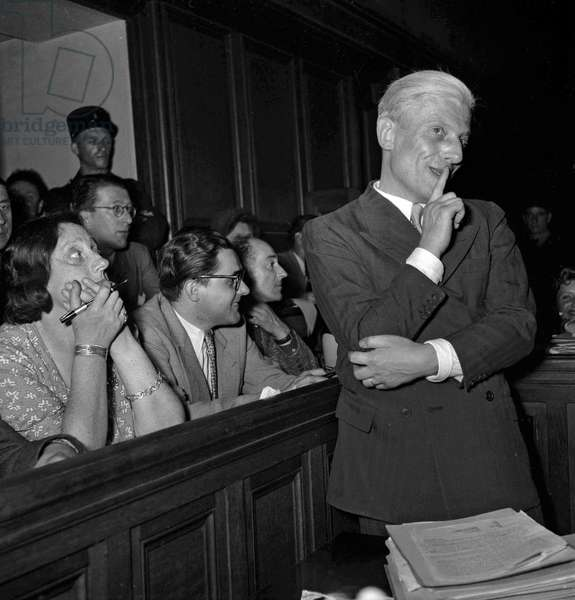 Trial of Otto Abetz, Paris, July 12, 1949 : Otto Abetz (German ambassador in Paris during ww2) (b/w photo)