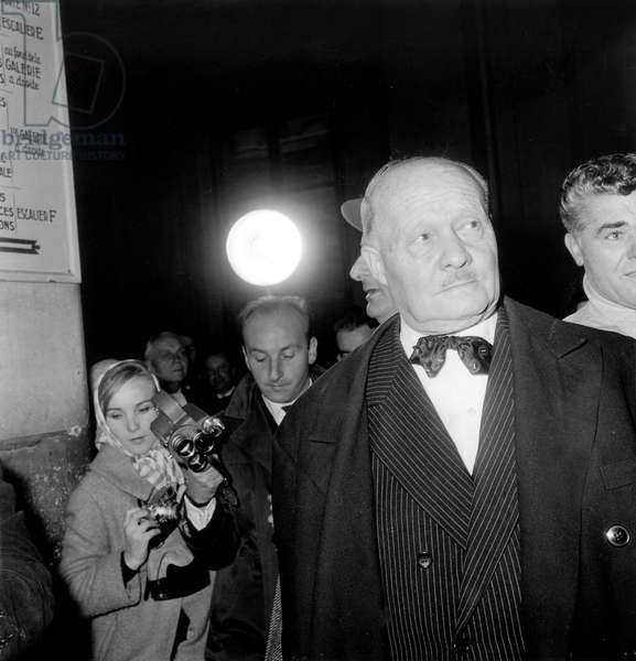 "Trial of French Politician Andre Le Troquer in ""Ballets Roses"" Affair November 6, 1959 (b/w photo)"