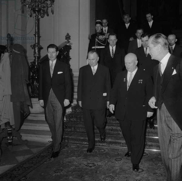 First Secretary of the Communist Party of the Soviet Union Nikita Khrushchev on state visit in Paris on March 23, 1960