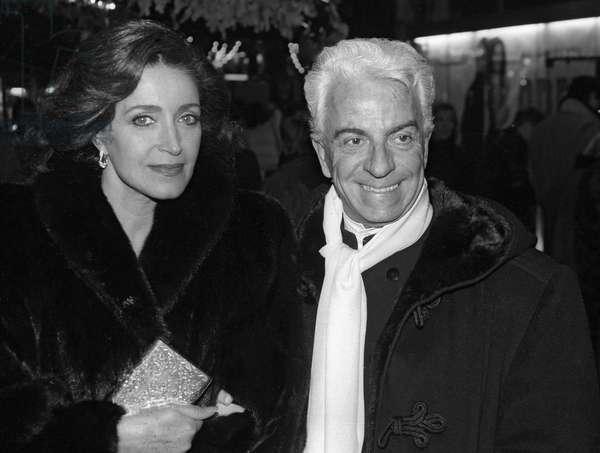 Francoise Fabian et Frederic Castet (b/w photo)
