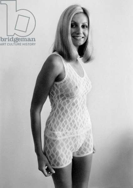 Underwear Fashion Show at George V Hotel in Paris : Lace Panties September 28, 1970 (b/w photo)