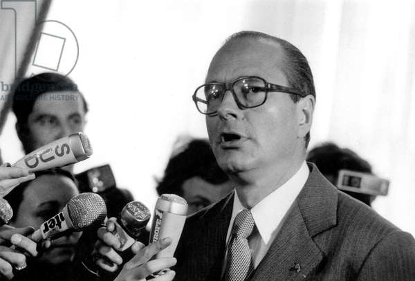 French Politician Jacques Chirac Elected Mayor of Paris March 25, 1977  (b/w photo)