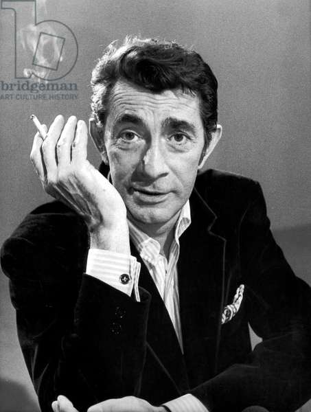 Jean-Claude Pascal during TV Programme on July 19, 1973 (b/w photo)