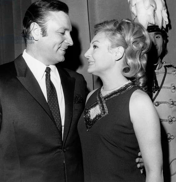 Opera Singer Marcel Merkes and Soprano Singer Paulette Merval February 1968 (b/w photo)