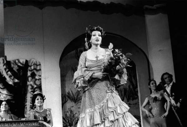 """Maria Candido In """"La Belle de Cadiz"""" August 10, 1979. Neg: Cx11854 (b/w photo)"""