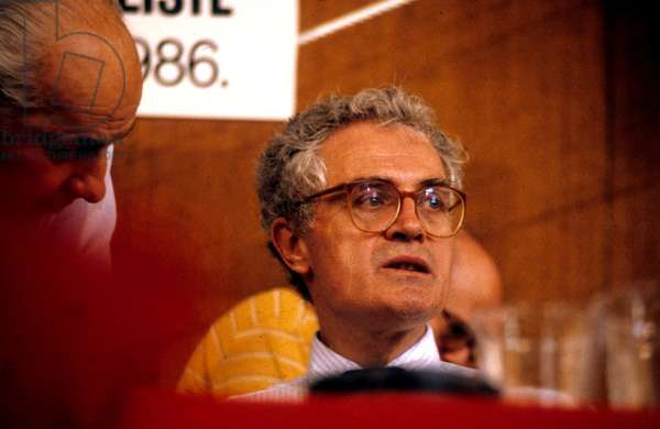 Lionel Jospin First Secretary of Socialist Party at French Socialist Party Congress in Paris June 1986 (photo)