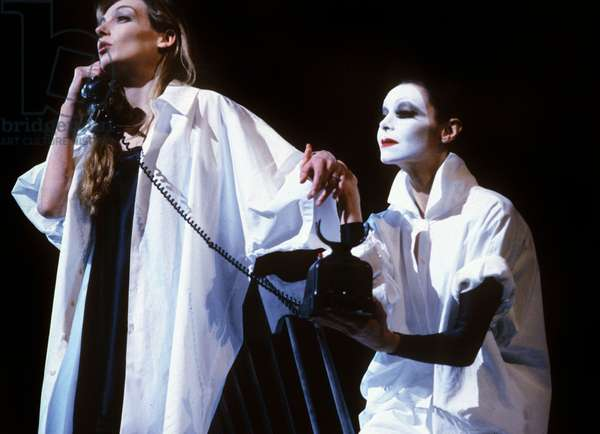 "Ballet ""La Mort Subite"" By Maurice Bejart With Ute Lemper, on February 6, 1991 in Paris (photo)"